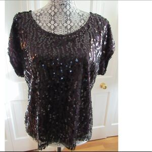 laundry by Shelli Segal sequined top large